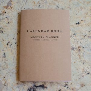 A4 monthly calendar book