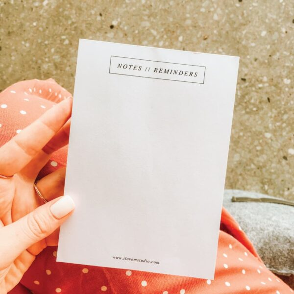 A6 notepad - notes & reminders