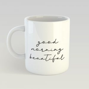 good morning couple mug set