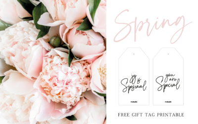 Free printable // SPRING TIME gift tags (english & afrikaans)